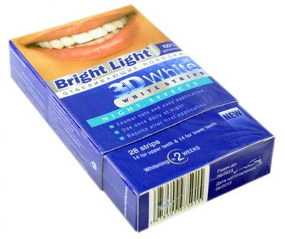 bright white night whitening strips review
